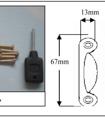183L Fitch Fastener Locking C/w Narrow Keep Satin Chrome