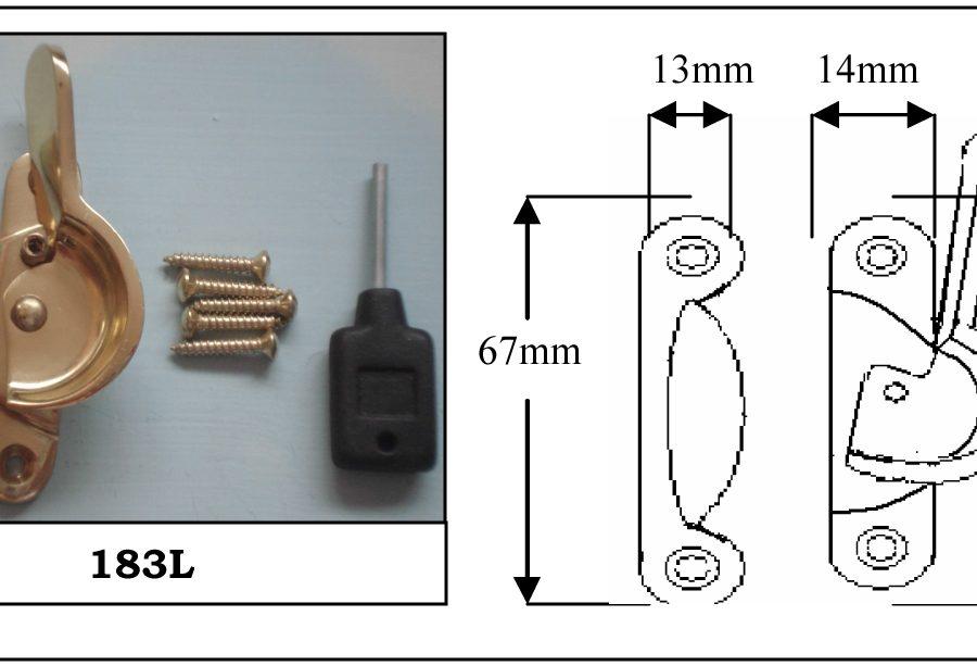 183L Fitch Fastener Locking c/w Narrow Keep Satin Chrome-0