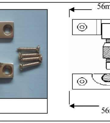 185 Brighton Fastener Small Non Locking Polished Brass