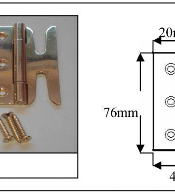 189 Solid Brass Simplex Hinges (pair) Satin Chrome