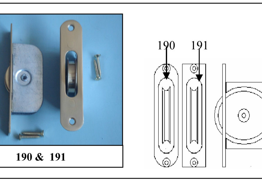 """191 1 ¾"""" Solid Brass Wheel Sash Axle Pulley with Square Brass Faceplate Satin Chrome-0"""
