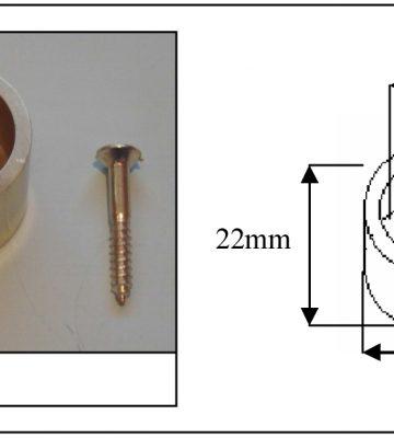 192 Cord Plug Polished Brass