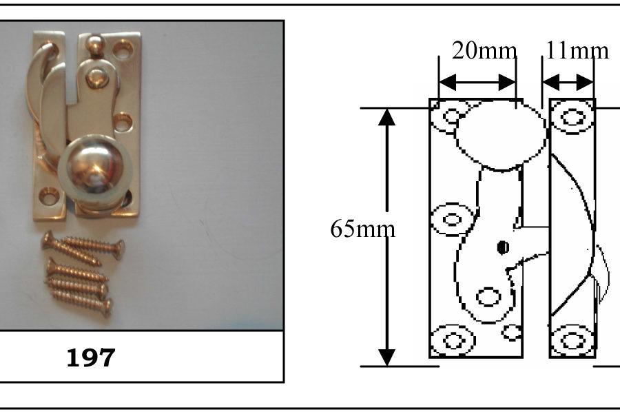 197 Clo Fastener Non Locking Polished Brass-0