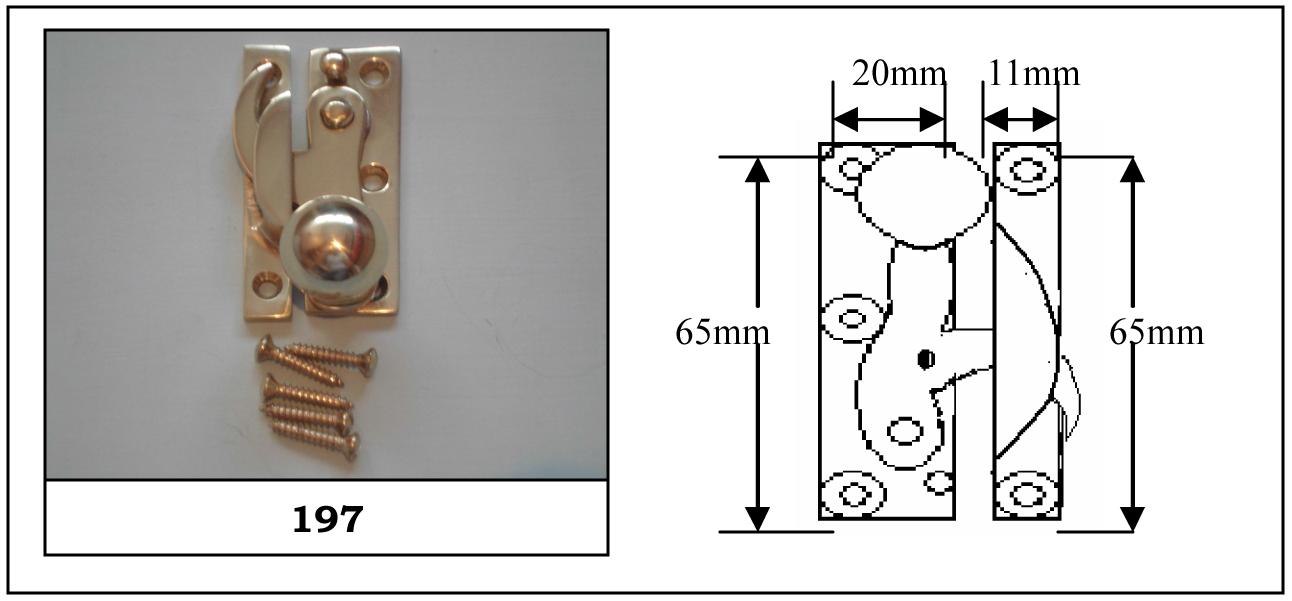 197 Clo Fastener Non Locking Chrome Plated