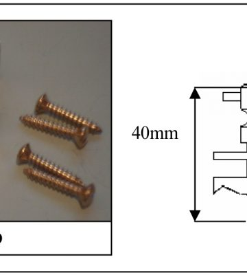 199 Baton Rod Screw Polished Brass