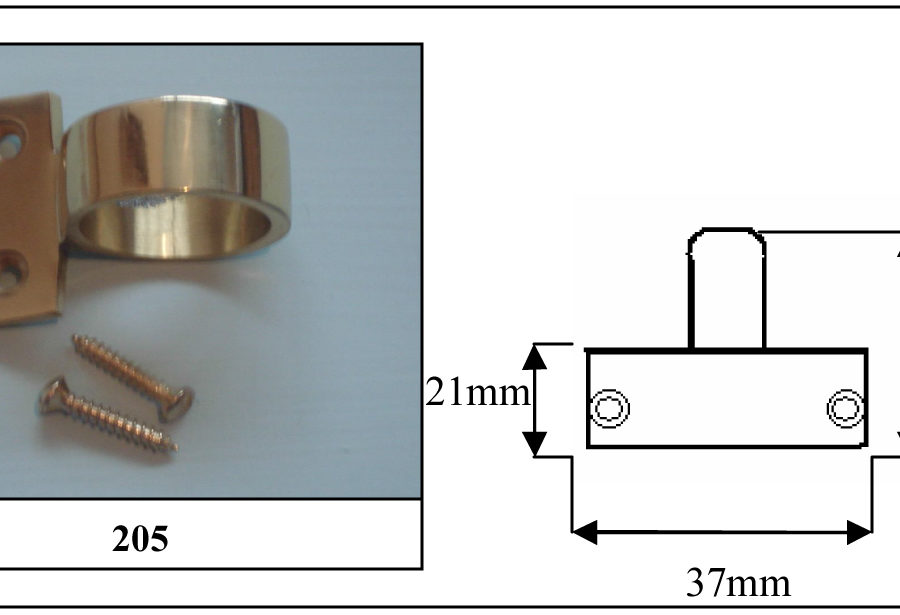 205 Ring Sash Lift Polished Brass-0