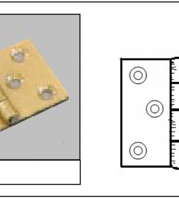 216 Baton Rod Hinge Chrome Plated (pair)