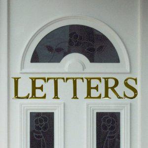 """3"""" Brass Letter H"""