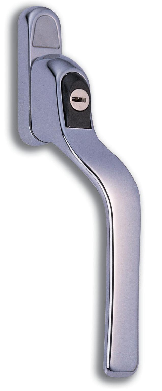 Vita HB108 Polished Chrome Cranked Locking Espagnolette Handle 40mm Left Hand
