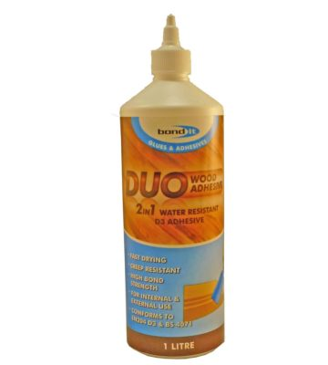 Bond It Duo 2 In 1 Wood Glue 1 Litre White