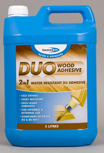 Bond It Duo 2 in 1 Wood Glue 5 Litre White-0