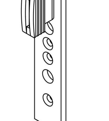 Yale Type B Top-glider Left Hand To Suit Top Turn Window Hinges (EACH)