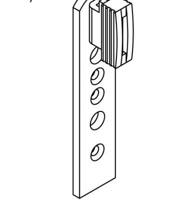 Yale Type B Top-glider Right Hand To Suit Top Turn Window Hinges (EACH)