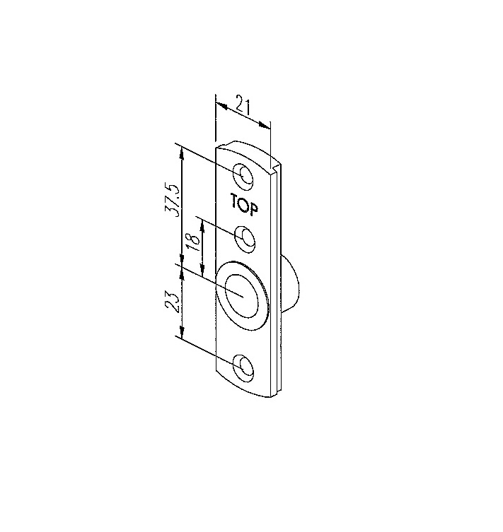 Yale Slim Centre Bracket To Suit Top Turn Window Hinges