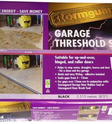 Stormguard Garage Threshold Seal Kit Black 2.5m 04SR507