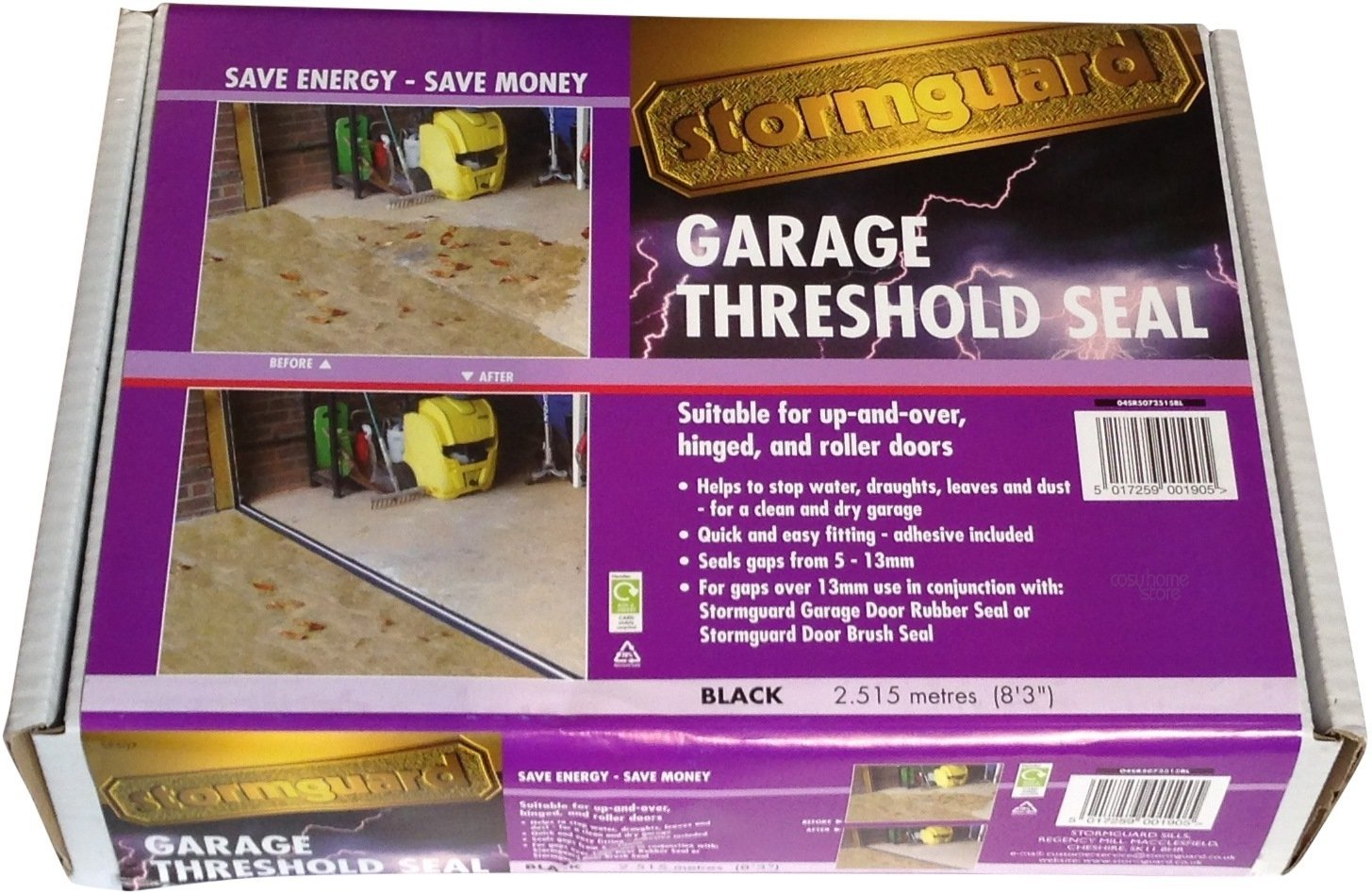 Stormguard Garage Threshold Seal Kit Black 25m 04sr507 Sealco