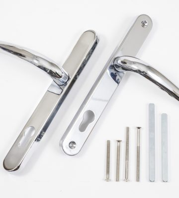 Endurance PVD Chrome Lever Door Handle 92mm Centres