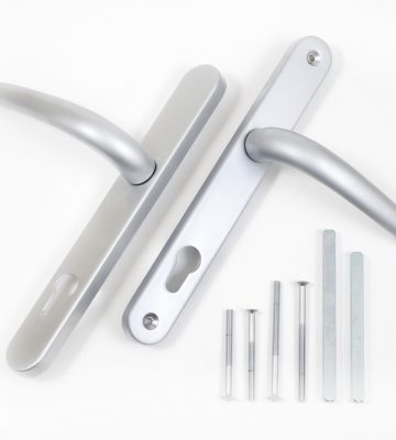 Endurance Satin Chrome Lever Door Handle 92mm Centres