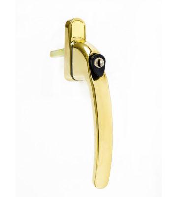 Endurance Inline Locking Polished Gold Window Handle 40mm Spindle