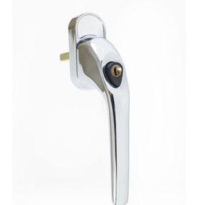 Endurance Polished Chrome Tilt And Turn Handle Locking 43mm Spindle