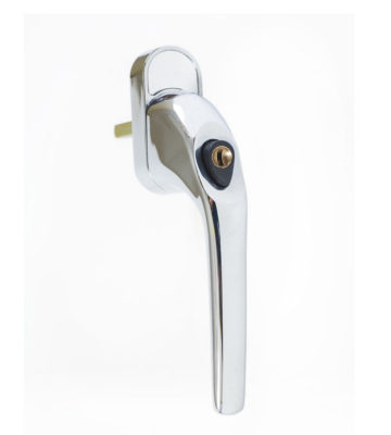 Endurance Polished Chrome Tilt And Turn Handle Locking 43mm Spindle