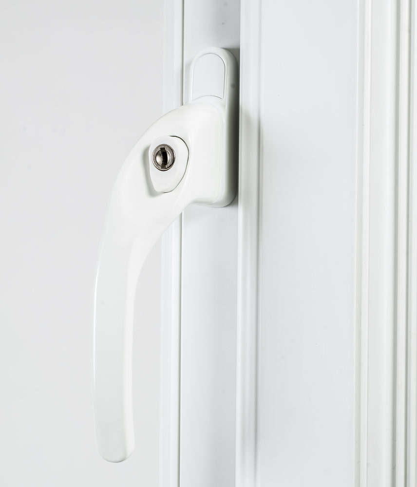 Endurance White Left Hand Window Handle 40mm Spindle-2128