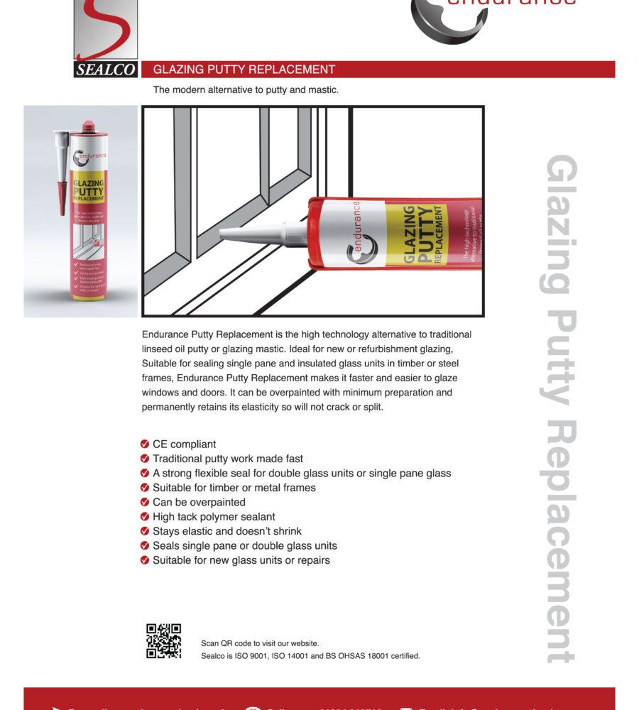 Endurance WHITE Glazing Putty Replacement 310ml-2316