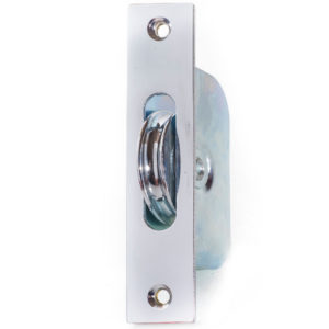 "Endurance Square Pulley Wheel 1 3/4"" Wheel Polished Chrome"