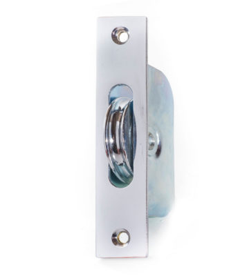 "Endurance Square Sash Pulley Wheel 1 3/4"" Wheel Polished Chrome"