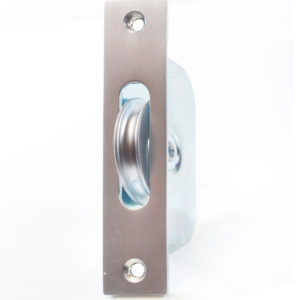 "Endurance Square Pulley Wheel 1 3/4"" Wheel Satin Chrome"