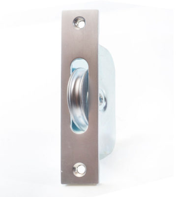 "Endurance Square Sash Pulley Wheel 1 3/4"" Wheel Satin Chrome"