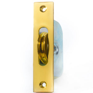 "Endurance Square Pulley Wheel 1 3/4"" Wheel Polished Brass"