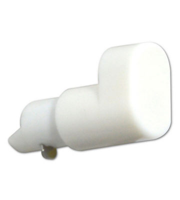 Replacement Window Handle Espag Button White