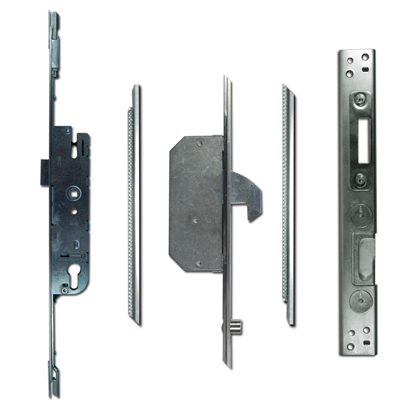 Adjustable Multipoint Lock 30/92 2 Hook / 2 Roller 16mm Faceplate-0