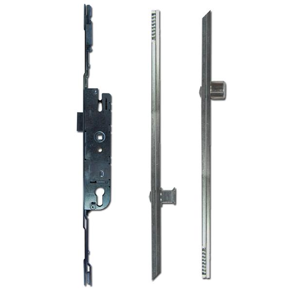 Adjustable Multipoint Lock 28/92 2 Roller / 2 Mushroom 16mm Faceplate-0