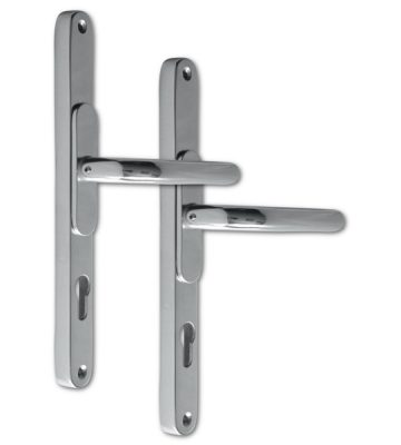 Adjustable Door Handle Pro 59-96mm Polished Silver