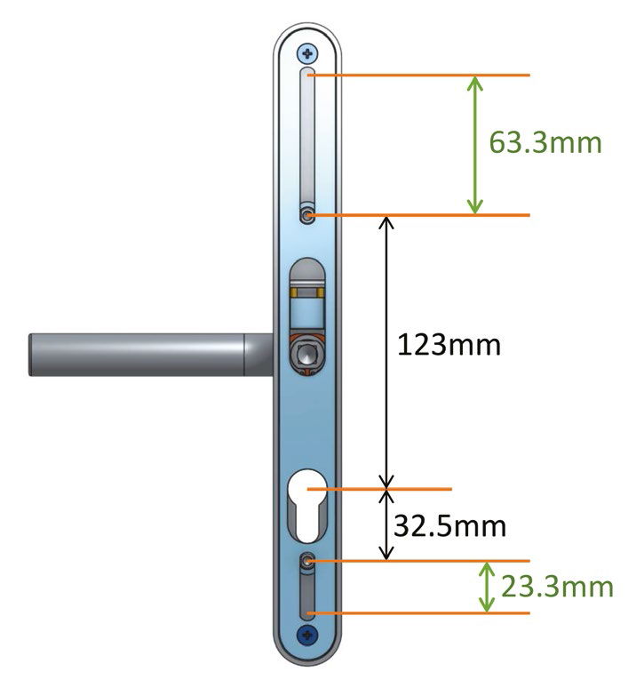 adjustable door handle pro 59