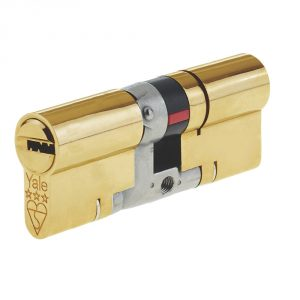 Yale 3 Star Platinum Cylinder 35/35 (70mm) Brass