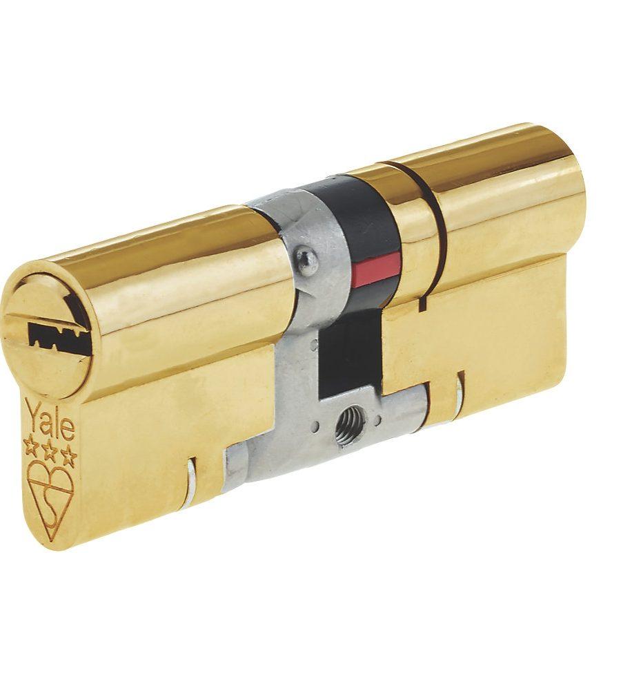 Yale 3 Star Platinum Cylinder 35/35 (70mm) Brass-0