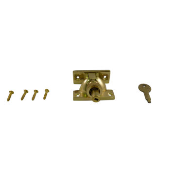 161L Brighton Fastener Locking Polished Brass