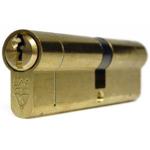UAP Anti Snap Keyed Alike 45/55 Brass Euro Profile Cylinder (pair)