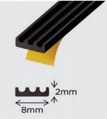 Exi-Glaze Black 30 Self Adhesive Dry Glaze 2mm X 8mm 200mtr