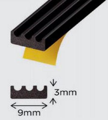 Exi-Glaze Black 30 Self Adhesive Dry Glaze 3mm X 9mm 200mtr