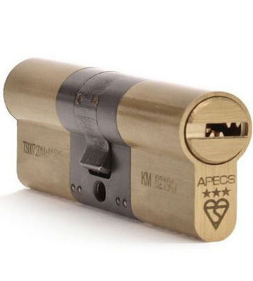 APECS AP TS007 35/35 Brass 3 Star Security Cylinder