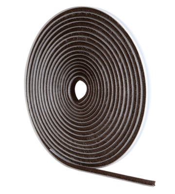 Stormguard Brown Self-Adhesive Brush Pile Draught Excluder 10M