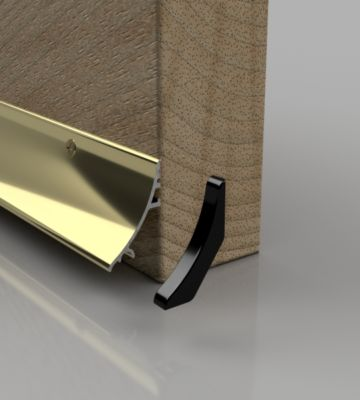Stormguard Gold Aluminium Rain Deflector