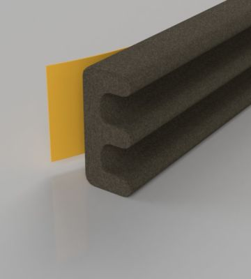 Stormguard Brown EPDM E Profile Draught Excluder 6M