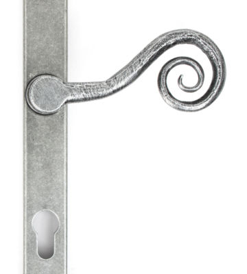 From The Anvil Pewter Patina Monkeytail Slimline Lever Espag. Lock Set – RH
