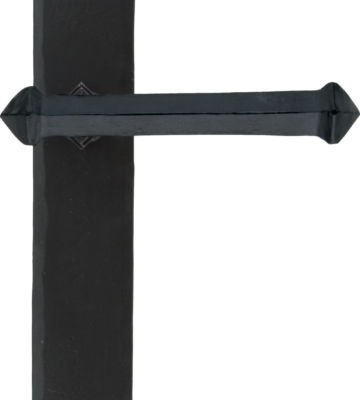 From The Anvil Black Tudor Lever Latch Set