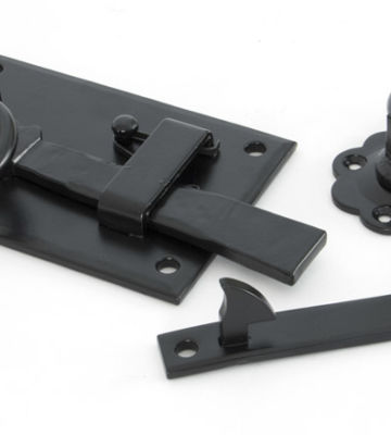 From The Anvil Black Cottage Latch – LH